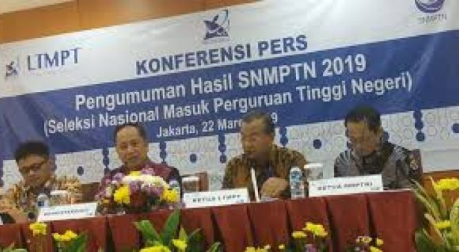 Umumkan Hasil Seleksi SNMPTN 2019, 92.331 Siswa Lulus 81 PTN Se-Indonesia