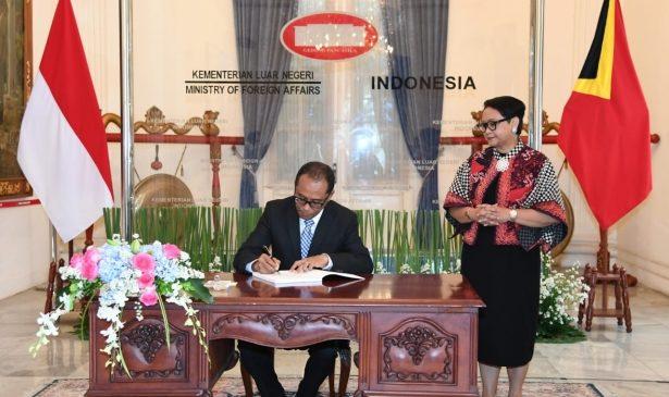 Menlu Tandatangani Kerjasama Bilateral dengan Timor Leste