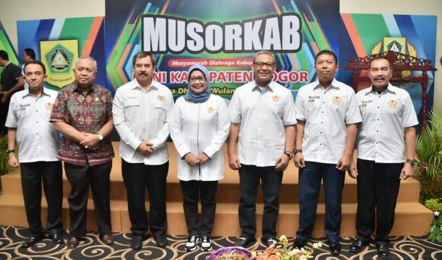 Ade Yasin Buka MUSORKAB KONI Kabupaten Bogor