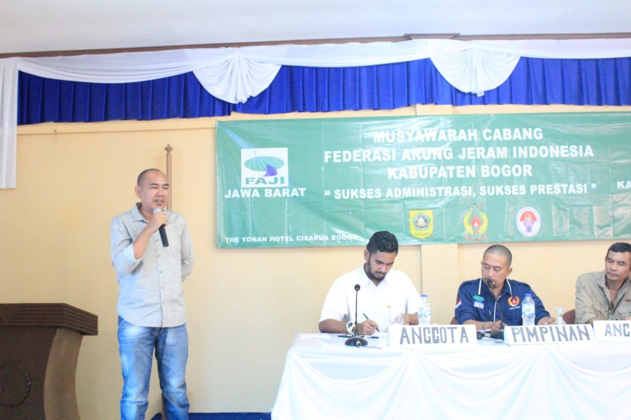 FAJI Pilih TB Wajedi Jadi Ketua Kabupaten Bogor Periode 2019-2023