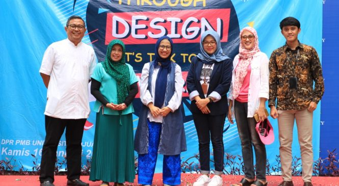 "Mahasiswa Komunikasi Universitas Djuanda Menyuarakan ""Through Design Lets Talk to the World"""