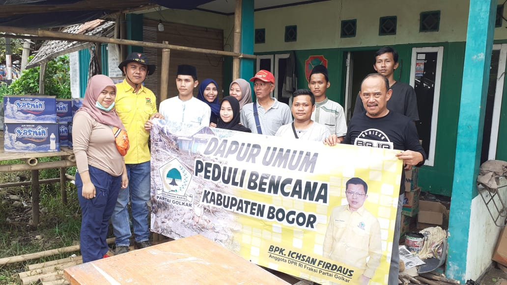 Ichsan Firdaus Dirikan Dapur Umum untuk Korban Bencana Alam di Bogor