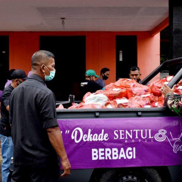 HUT 10 tahun, Sentul 8 Hotel Bisa Berbagi Ditengah Pandemi