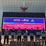 Bersama GP Ansor, Aice Bagikan 150 Masker Medis di Kabupaten Bogor