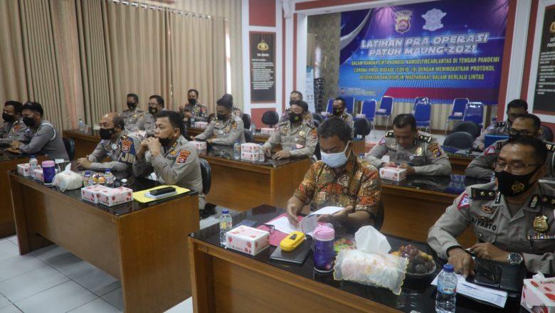 Operasi Patuh Maung 2021 Segera Dimulai, Ditlantas Polda Banten Gelar Lat Pra Ops Secara Virtual