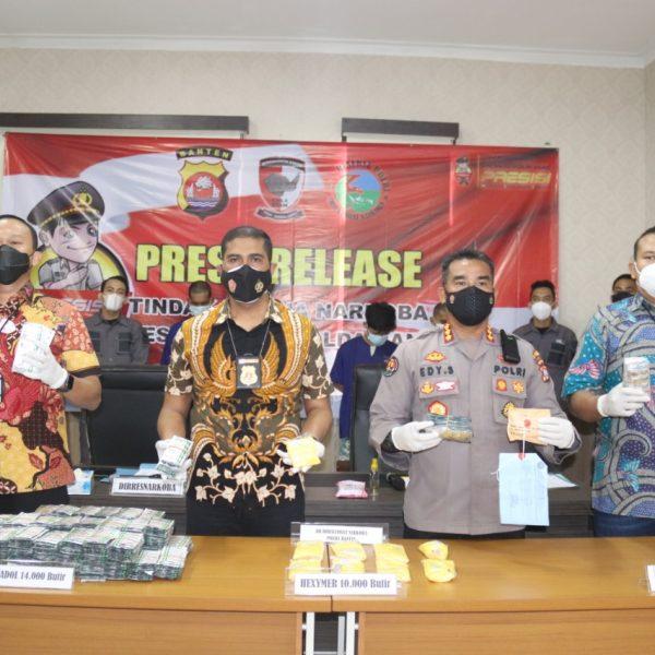 Polda Banten Ungkap Kasus Penyalahgunaan Obat-obatan Terlarang